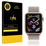 [6 Pack] LK for Apple Watch Screen Protector 40mm / 38mm (Series 4/3/2/1 Compatible), LiquidSkin Full Coverage Screen Protector [HD Clear Anti-Bubble Film] with Lifetime Replacement Warranty