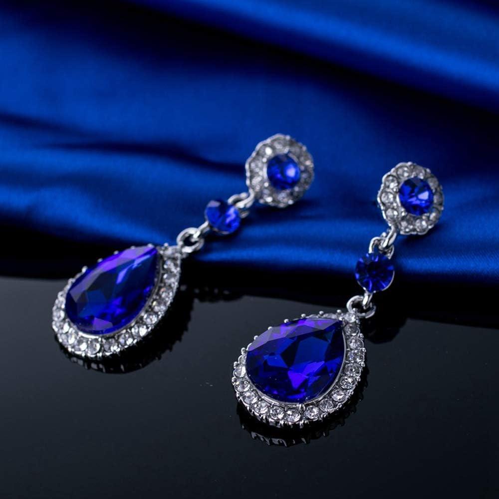 Nuevos pendientes de cristal para mujer pendientes de diamantes de piedras preciosas en forma de gota Tamaño del producto:5.3CMX2CM
