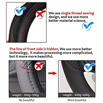 Funda universal de cuero para volante 37-38 cm dise/ño deportivo VEDONER antideslizante