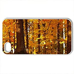 Autumn - Case Cover for iPhone 4 and 4s (Flowers Series, Watercolor style, White)