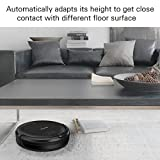 Eventer Vacuum Robot, Pet Hair Care, with High Suction, Auto Charging, Daily Scheduling, for Low-Pile Carpet, Hardwood and Tile Floors, Extra-Large Dustbin – Black