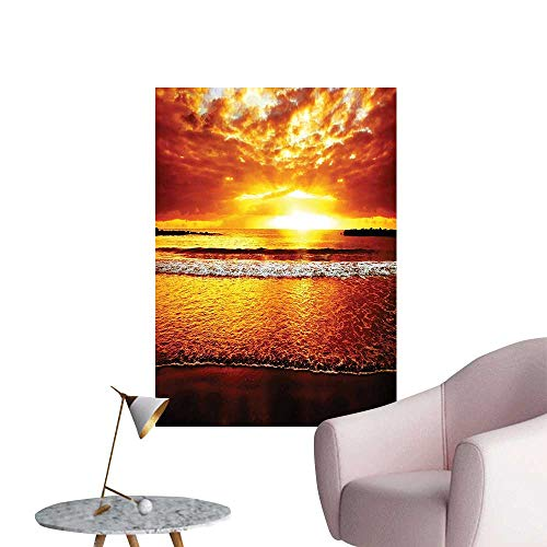 - Wall Decals Sunset The Ocean Dramatic Summertime Tropical Seaside Cloudscape Environmental Protection Vinyl,20