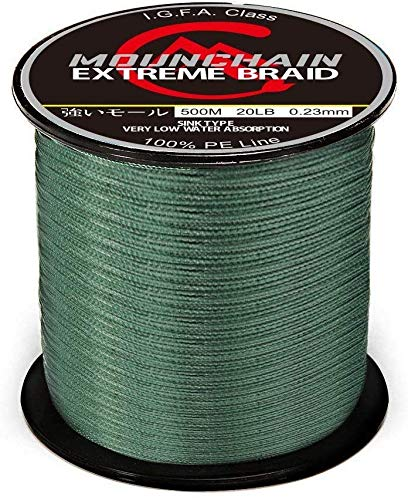 Mounchain Braided Fishing Line Abrasion Resistant Braided Lines 4 Strands