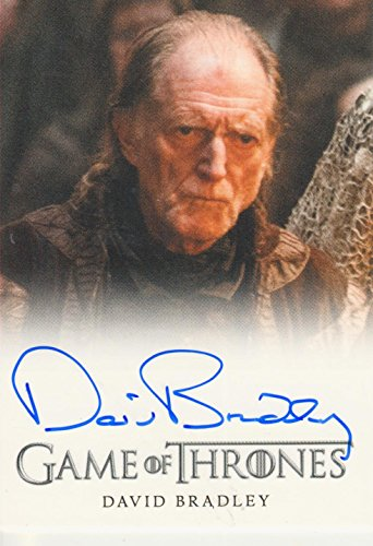 2015 Game of Thrones Season 4 Trading Card Autograph David Bradley as Walder Frey