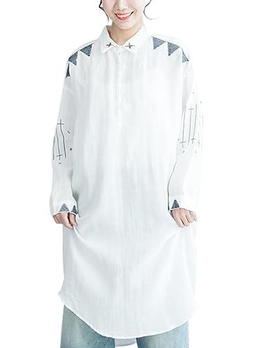 Youlee Mujeres Cuello Polo Manga larga Blusa Vestir