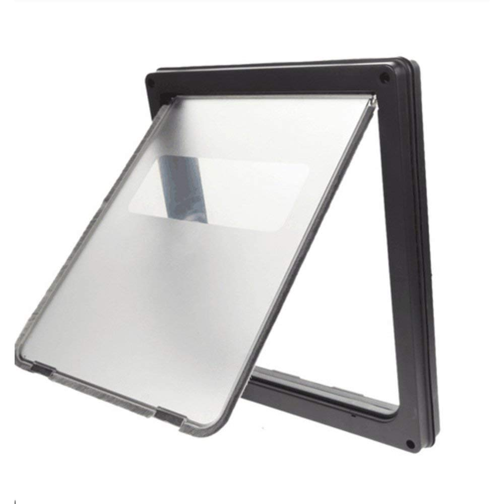 Pet Cat Dog Safe Security Flap Locking Door Eco-Friendly ABS Plastic with Locking Panel, Caps and Screws for Inssizetion