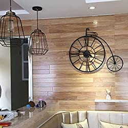 Brandream Creative Vintage Bicycle Large Wall Clock Decorative Metal Wall Clocks