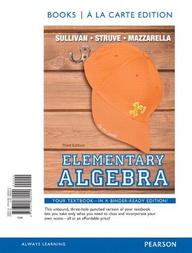 Elementary Algebra, Books a la Carte Edition (3rd Edition)
