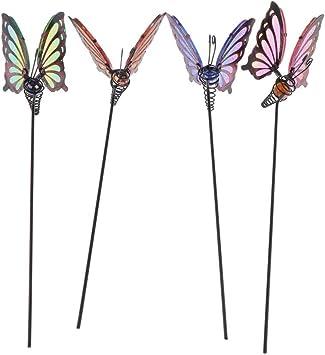 Amazon.es: B Blesiya 4 Unids Mariposas Adornos de Jardín y Estacas en Patio Mariposas Selecciones de Plantas: Juguetes y juegos