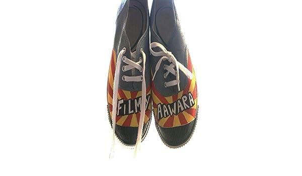 Mujeres Zapatos Mocasines Indios Aztecas Zapatos Zapatos Zapatillas Hechas a Mano de la Lona Impresos (45 EU): Amazon.es: Zapatos y complementos