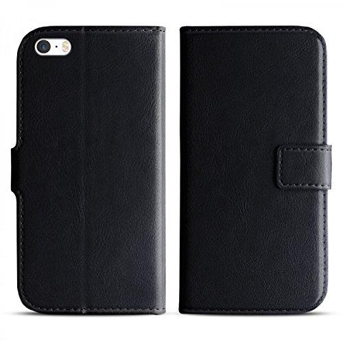 eFabrik Case per Apple iPhone SE 5 5S custodia smartphone ecopelle nero