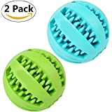 UYIKU Pet Toy Balls Dog Chew Durable Dog Treat Balls Indestructible Pack of 2