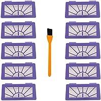 Neato XV-21 Filters , 10 Pcs Hongfa Replacements Compatible with Neato XV Signature Pro XV-11 XV-12 XV-21 Vacuum Cleaner Parts