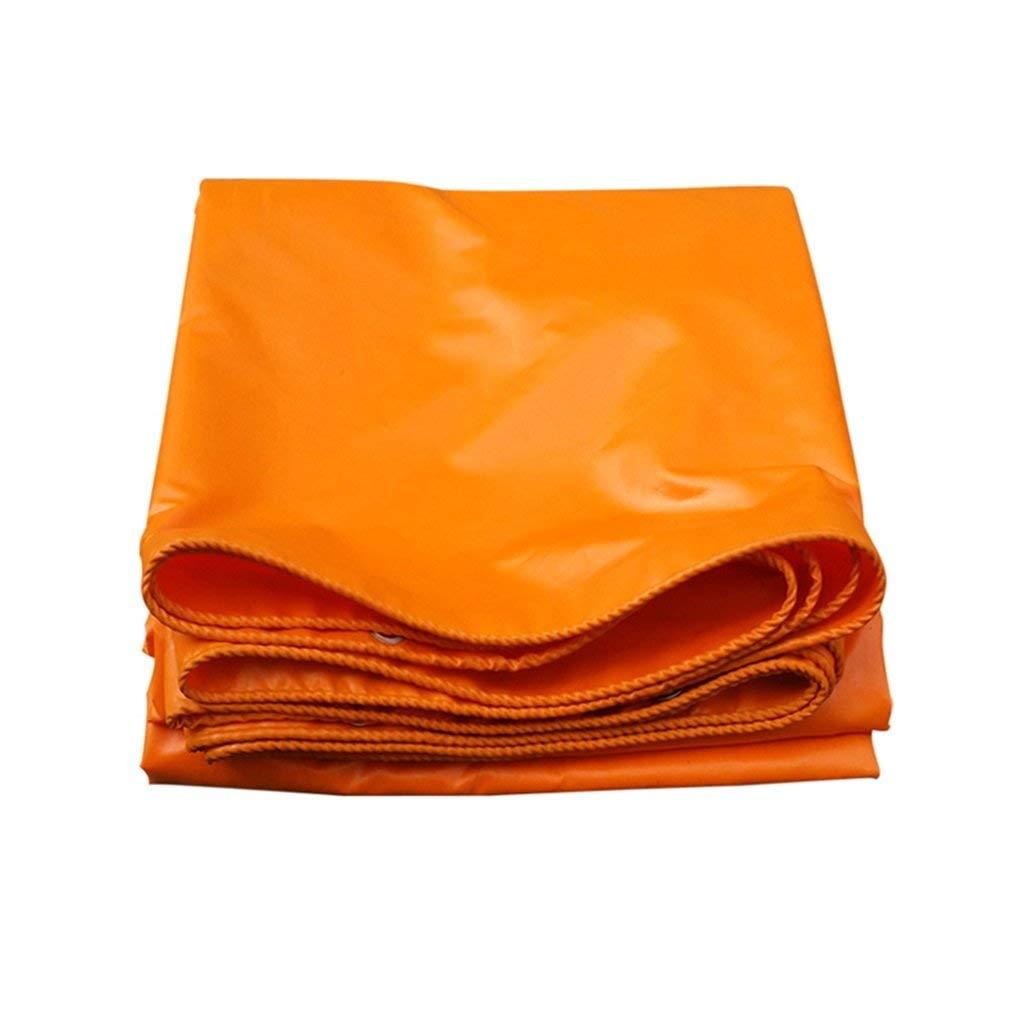 QINCH Zelt im Freien Plane gepolsterte Plane Logistik LKW Gebäude staubdicht Winddicht Schuppen Tuch Isolierung Verschleißschutz Korrosionsschutz, Orange (Farbe   A, Größe   4  6)