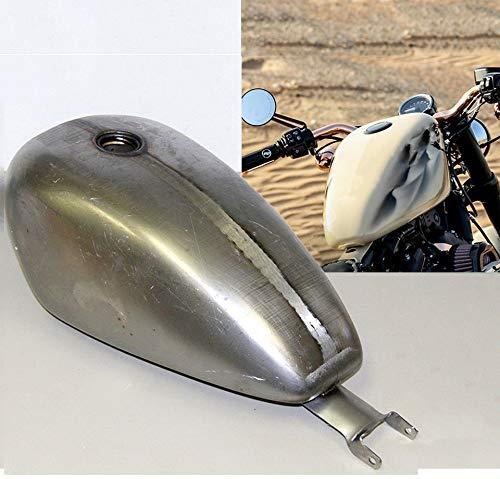 (TTX-LIGHTING 3.3 Gallon Fuel Gas Tank Petrol Carburetor Heavy Duty Steel Unpainted For 2004-2016 Harley Davidson Sportster XL 883 Chopper Bobber)