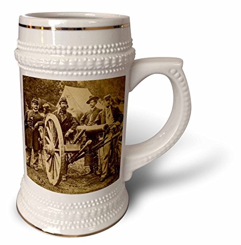 Scenes from the Past Stereoview - Vintage Civil War 1862 Battle of Fair Oaks Virginia Stereoview - 22oz Stein Mug - Fair Oaks Virginia