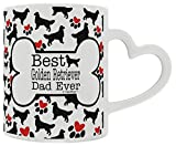 Golden Retriever Gift Best Golden Retriever Dad Ever Dog Owner Gifts Dog Lover Heart Handle Gift Coffee Mug Tea Cup Heart Handle