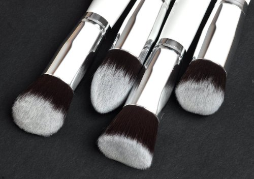 Eforstore 4 Pcs Professional Foundation Makeup Tools Cosmetic White Synthetic Brushes Concealer Blending Face Eye Brush Kit Set