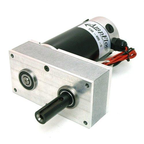 Image of AmpFlow F30-400-G Electric Gearmotor, 12V, 24V or 36 VDC, 570 RPM Permanent Magnet Motors