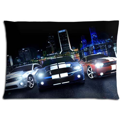 Zippered Throw Pillow Covers Case Comfort Cotton / Polyester Ford mustang Fade-resistant 16x24 inch 40x60 cm (Throw Mustang Ford)