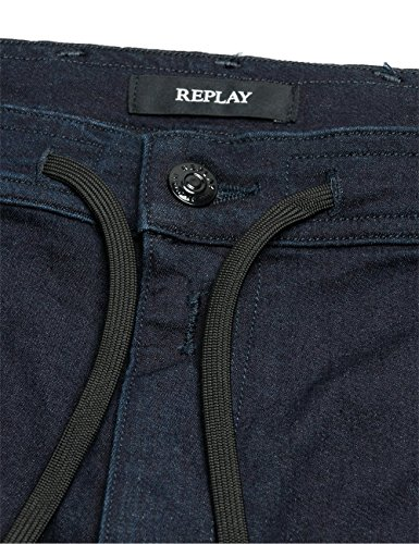 Jogging Bleu Homme Jeans Replay Blue 007 dark AdqCt4xtw