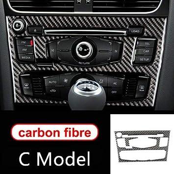 Hdcf Für A4 B8 A5 Zubehör Kohlefaser Auto Innenraum Klimaanlage Cd Bedienfeld Auto Styling Aufkleber C Modell Auto
