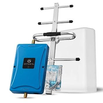 ANNTLENT Amplificador Señal Movil 4G LTE 800MHz Band 20 Repetidor Teléfono Celular 70 dB Mejora Datos para el hogar y la Oficina Soporte ...