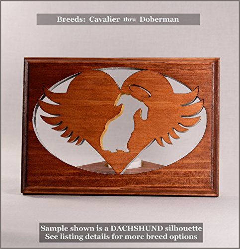 Cheap Dog Memorial Tea Light • Breeds CAVALIER thru DOBERMAN ○Personalized○Pet Loss○Sympathy○Remembrance○Candle Holder