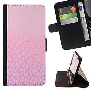 - simple life beautiful inspirational pink - - Prima caja de la PU billetera de cuero con ranuras para tarjetas, efectivo desmontable correa para l Funny HouseFOR Apple Iphone 5C