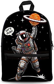 Stylish Planet Space Print Canvas Rucksack Kids Boy Girl School Satchel Backpack