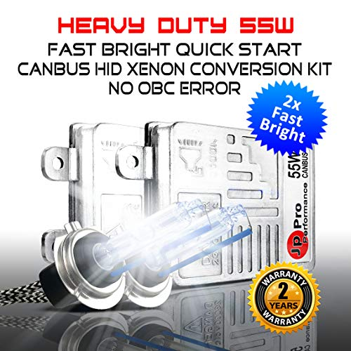 - Heavy Duty 55W CANBUS HID Xenon Conversion Kit H7 100% No Bulb Out Error Headlight Fog-light(6000K Daylight White)