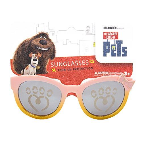 NBC Universal Secret Life of Pets Kids Children Sunglasses with 100% UV Protection Cateye Frame Gold and Red - How Know Uv Protection Sunglasses To