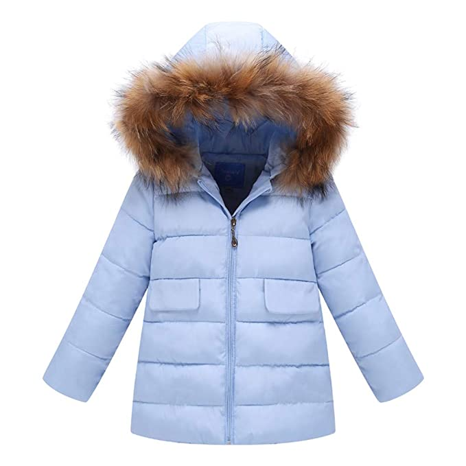 Amazon.com: vavomy Boys Girls Down Jacket Coat Warm Thick Outerwear Sweaters Cotton-Padded Parka: Clothing