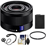 Sony Alpha E-Mount Sonnar T FE 35mm f/2.8 ZA Lens with NP-FW50 Battery + Filter + Kit for A7, A7R, A7S Mark II, A5100, A6000, A6300 Cameras