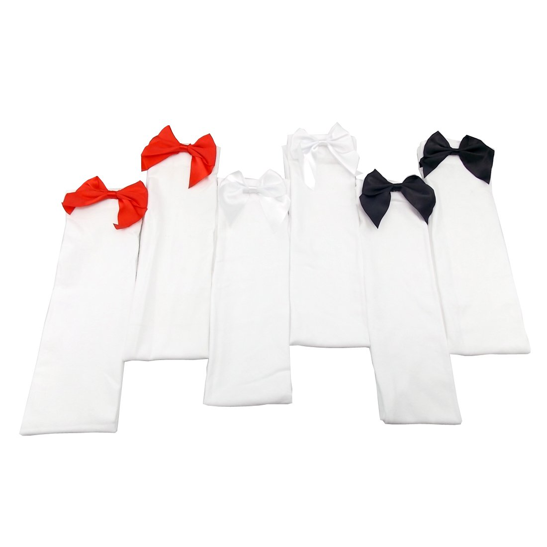 c2b06a94c9b69 JJOnlineStore - 1 pair White Stocking with Red Bows, 54cm Fits (5 to 8 UK):  Amazon.co.uk: Clothing