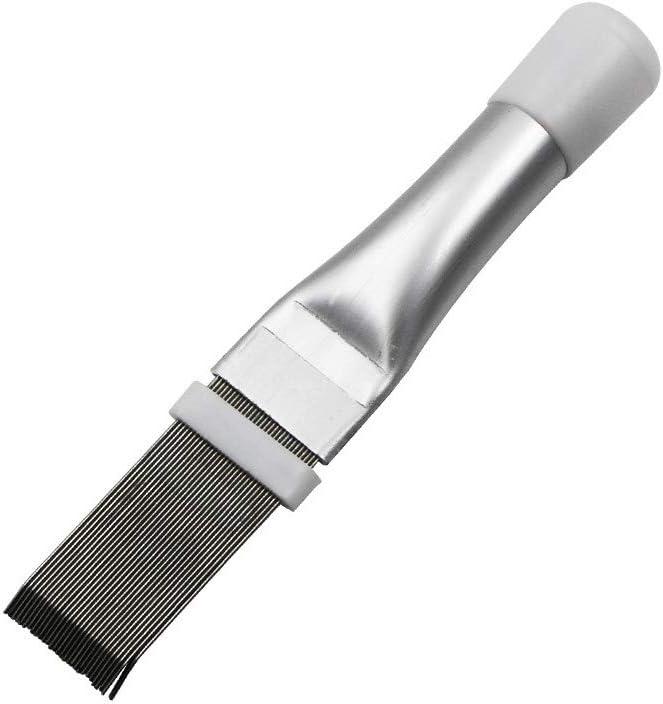 heacker Útiles de Limpieza del acondicionador de Aire Acondicionado Fin Peine de Acero Inoxidable Fin enderezadora del Cepillo de Aire