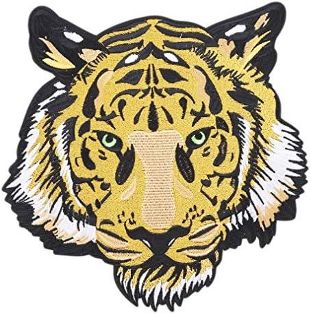 1st market ワイルドタイガー 刺繍ワッペン トラ 虎 和柄 和風 アイロン接着 動物 ワッペン アップリケ 耐久性