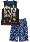 WWE Boy's 2 Piece Pajama Short Set - John Cena, The Rock, Daniel Bryan, Ron Orton, Size S(6/7)