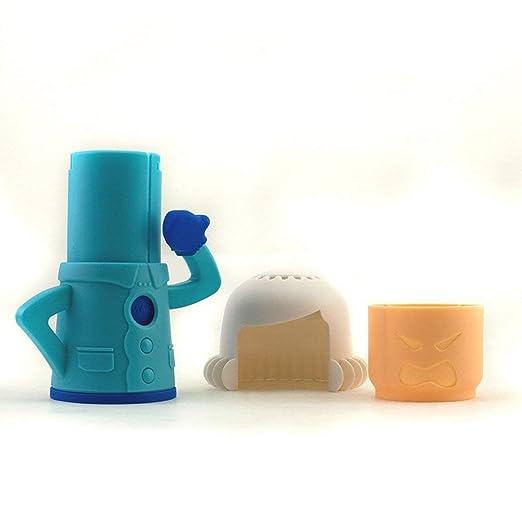 Kongqiabona Horno de microondas Desodorante Contenedor Figura Forma Horno de microondas Desodorante Contenedor Frigorífico Desodorante Limpiador