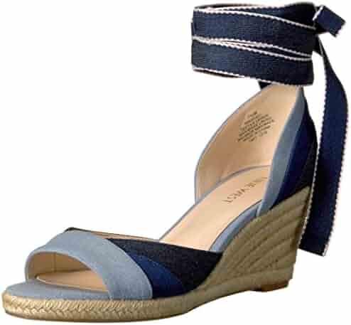 Nine West Women's Jaxel Denim Wedge Sandal