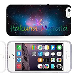 Africa Ancient Proverb HAKUNA MATATA Color Accelerating Universe Star Design Pattern HD Durable Hard Plastic Case Cover for iphone 6 plusd 5.5