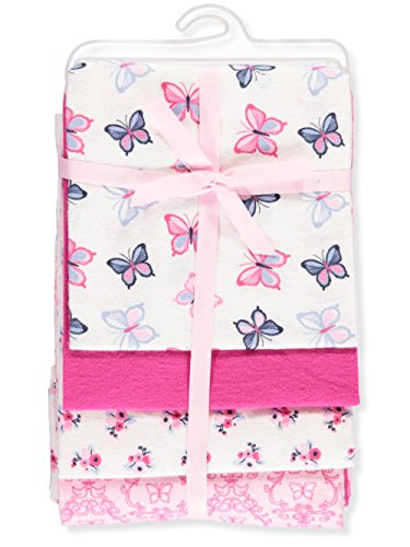 Hudson Baby Flannel Receiving Blankets 4 Pack