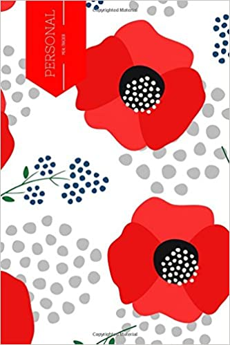 personal meal tracker poppies design 52 week planner monthly