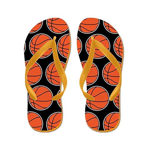 Cafepress Basketbal - Flip Flops, Grappige String Sandalen, Strand Sandalen Oranje