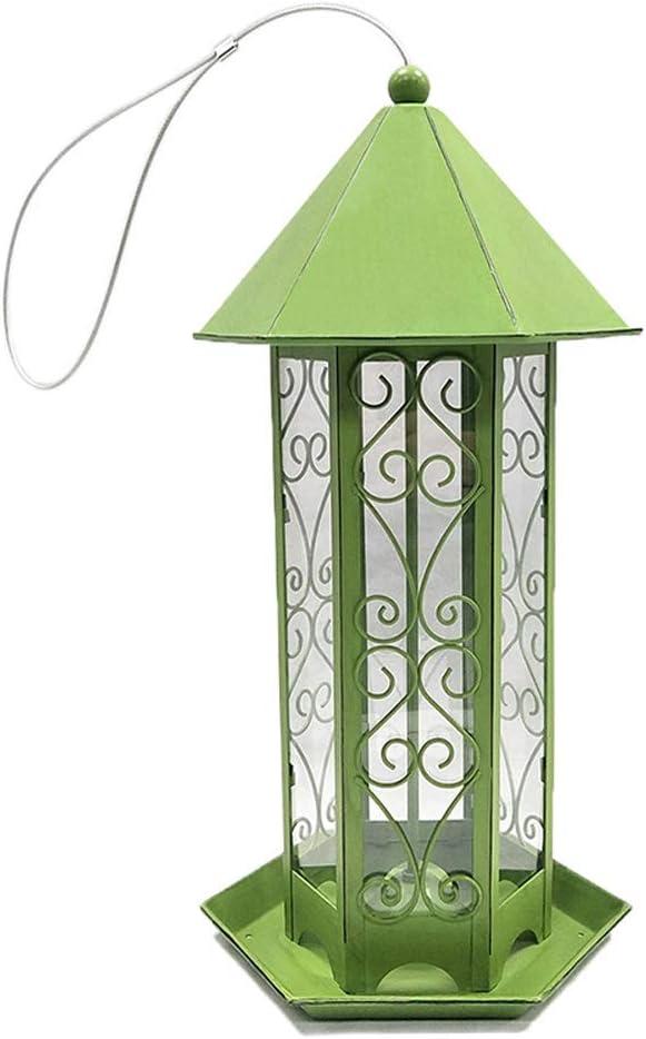 Byfjkkl Alimentador De Pájaros Alimentador De Aves Silvestres Colgante De Metal Cian Retro Al Aire Libre para Decoración De Patio De Jardín Al Aire Libre