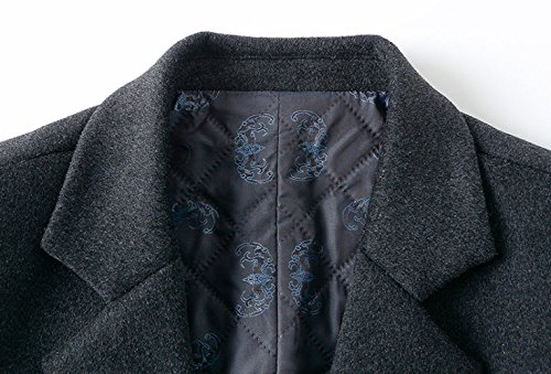 Winter Suit Woolen And Long Gentleman Section Men's Coat Autumn Coat Thickening Jacket Collar Wool Trench Men Black Coat ECqS4