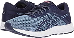 Asics Women's Fuzex Lyte 2 Running Shoe Airy Blueastral Auraflash Coral 7.5 (S)