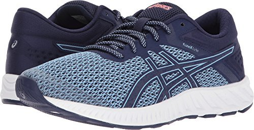 Motion Shoes Running Control Women (ASICS Women's fuzeX Lyte 2 Running Shoe Airy Blue/Astral Aura/Flash Coral 8 (S))