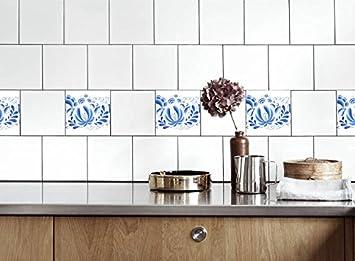 Küche Fliesen Aufkleber Blumen Vinyl Film Für Badezimmer Wand Fliesen Ideen  Verschiedene Größen   16pcs