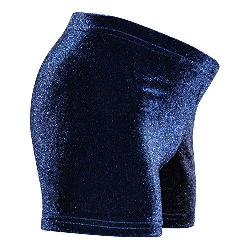 Tief geschn. Turn Shorty aus Stretch-Nicki-Samt div. Farben Größe 128, Farbe dunkelblau